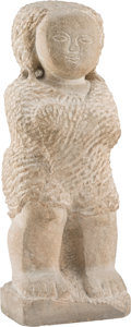 Sculpture, Lorrie Goulet (American, b. 1925). Untitled, 1965. Stone. 25 inches (63.5 cm). Signed GOULET and dated. ...