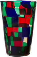 Glass, Fulvio Bianconi (Italian, 1915-1996). Pezzato Vase. Polychrome patchwork glass. 9-1/4 x 6-1/4 inches (23.5 x 15.9 cm). I...