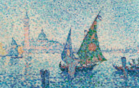 Jeanne Selmersheim-Desgrange (French, 1877-1958) Venise Oil on canvas 19-3/4 x 31-1/2 inches (50