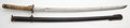 Metalwork, A Japanese Katana. Marks: (various). 38-1/2 inches (97.8 cm) (overall). 26 inches (66.0 cm) (blade). ...