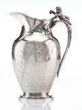Silver Holloware, American, A Gorham Mfg. Co. Silver Presentation Pitcher with Figural Handle, Providence, Rhode Island, 1872. Marks: (lion-anchor-G), ...