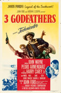 "Movie Posters:Western, 3 Godfathers (MGM, 1948). Folded, Fine. One Sheet (27"" X 41"").. ..."