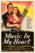 "Movie Posters:Musical, Music in My Heart (Columbia, 1940). Folded, Very Fine-. One Sheet (27"" X 41"").. ..."