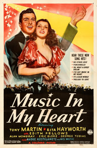 """Music in My Heart (Columbia, 1940). Folded, Very Fine-. One Sheet (27"""" X 41"""")"""