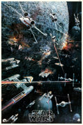 "Movie Posters:Science Fiction, Star Wars (20th Century Fox, 1977). Folded, Very Fine-. Soundtrack Poster (21.75"" X 32.75"") John Berkey Artwork.. ..."