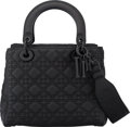 """Luxury Accessories:Bags, Christian Dior Ultra Black Calfskin Leather Medium Lady Dior Bag with Ultra Black Hardware. Condition: 2. 9.5"""" Width x..."""