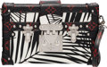 "Luxury Accessories:Bags, Louis Vuitton Limited Edition Black, White & Red Palm Print Coated Canvas Petite Malle Bag . Condition: 1 . 7.5"" Width..."