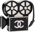 "Luxury Accessories:Bags, Chanel Limited Edition Black Plexiglass & Crystal ""Buonasera"" Film Projector Minaudiere. Condition: 1. 7"" Width x 7"" H..."