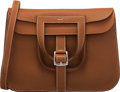 """Luxury Accessories:Bags, Hermès 31cm Gold Clemence Leather Halzan Bag with Palladium Hardware. T, 2015. Condition: 2. 12"""" Width x 8"""" Height..."""