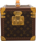"""Luxury Accessories:Bags, Louis Vuitton Brown Monogram Coated Canvas Train Case. Condition: 2. 8.5"""" Width x 8.5"""" Height x 11.5"""" Depth. ..."""