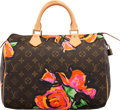 "Luxury Accessories:Bags, Louis Vuitton Brown Monogram Canvas Stephen Sprouse Roses Speedy 30 Bag. Condition: 2. 12"" Width x 9"" Height x 7"" Depth..."
