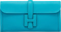 "Luxury Accessories:Bags, Hermès 29cm Turquoise Swift Leather Jige Elan Clutch. R Square, 2014. Condition: 1. 11.5"" Width x 6"" Height x 1"" D..."