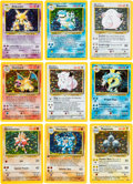 Memorabilia:Trading Cards, Pokémon Unlimited Base Set Rare Trading Card Set (1999) Average Grade NM-MT 8....