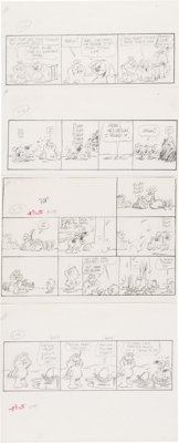 Jim Davis U.S. Acres Daily Comic Strip Preliminary Original Art Group of 300+ (United Feature Syndicate, 1988).... (Tota...