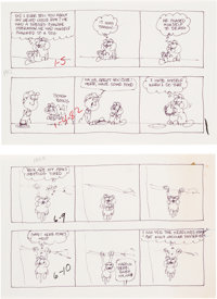 Jim Davis Garfield Daily Comic Strip Preliminary Original Art Group of 300+ (United Feature Syndicate, 1982).... (Total:...