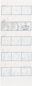 Original Comic Art:Miscellaneous, Jim Davis Garfield Daily Comic Strip Preliminary Original Art Group of 200+ (United Feature Syndicate, 1995).... (Total: 200 Illustration Art)