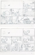 Original Comic Art:Miscellaneous, Jim Davis Garfield Sunday Comic Strip Preliminary Original Art Group of 52 (United Feature Syndicate, 1992).... (Total: 52 Original Art)