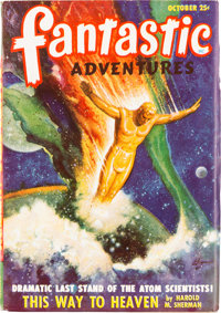 Fantastic Adventures - October 1948 Yakima Pedigree (Ziff-Davis) Condition: VF-