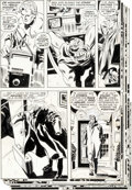 Original Comic Art:Panel Pages, Gene Colan and Frank Giacoia Captain America #125 Story Original Art Group of 6 (Marvel, 1970).... (Total: 6 Original Art)