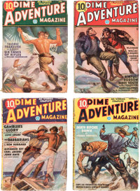 Dime Adventure Magazine Complete Series Group of 6 (Popular Publications, 1935-36) Condition: Average VG/FN.... (Total:...