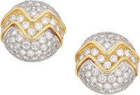 Diamond, Gold Earrings, Tiffany & Co