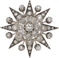 Estate Jewelry:Brooches - Pins, Antique Diamond, Silver-Topped Gold Brooch . ...
