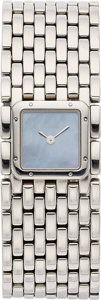 Estate Jewelry:Watches, Cartier Lady's Stainless Steel Panthere Ruban Watch. ...