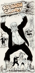 Murphy Anderson Who's Who: The Definitive Directory of the DC Universe #21 Solomon Grundy Illustration Original Ar