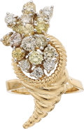 Estate Jewelry:Rings, Diamond, Colored Diamond, Gold Ring. ...