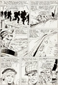 Original Comic Art:Panel Pages, Dick Ayers and Steve Ditko Sgt. Fury and His Howling Commandos #15 Story Page 13 Original Art (Marvel, 1965)....