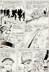 Dick Ayers and Steve Ditko Sgt. Fury and His Howling Commandos #15 Story Page 13 Original Art (Marvel, 1965)