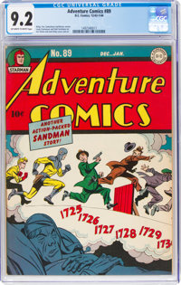 Adventure Comics #89 (DC, 1944) CGC NM- 9.2 Off-white to white pages