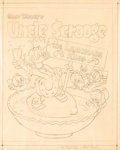 "Carl Barks Walt Disney's Uncle Scrooge ""The Lemonade King"" Preliminary Cover Sketch Original Art (Whitman, c..."