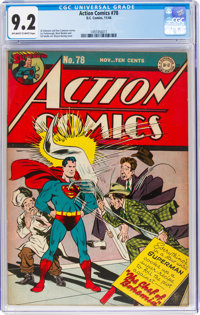 Action Comics #78 (DC, 1944) CGC NM- 9.2 Off-white to white pages