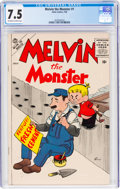 Silver Age (1956-1969):Humor, Melvin the Monster #1 (Atlas, 1956) CGC VF- 7.5 Off-white to white pages....