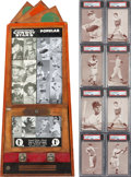 Baseball Cards:Lots, 1947-66 Exhibit Supply Co. Cards & Vending Machine. ...