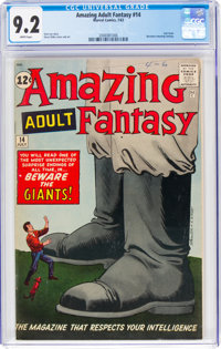 Amazing Adult Fantasy #14 (Marvel, 1962) CGC NM- 9.2 White pages