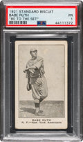 Baseball Cards:Singles (Pre-1930), 1921 D350-3 Standard Biscuit Babe Ruth PSA Poor 1 - The Only PSA Graded Example! ...