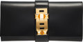 """Luxury Accessories:Bags, Hermès 29cm Black Calf Box Leather Medor Clutch with Gold Hardware. K Square, 2007. Condition: 3. 11.5"""" Width x..."""