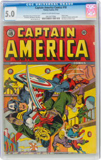 Captain America Comics #18 (Timely, 1942) CGC VG/FN 5.0 Cream to off-white pages