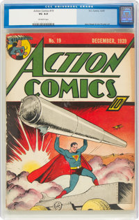 Action Comics #19 (DC, 1939) CGC VG 4.0 Off-white pages