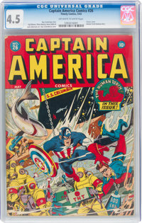 Captain America Comics #26 (Timely, 1943) CGC VG+ 4.5 Off-white to white pages