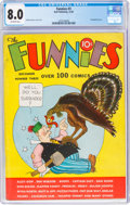 Platinum Age (1897-1937):Miscellaneous, The Funnies #3 (Dell, 1936) CGC VF 8.0 Off-white pages....