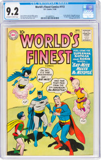 World's Finest Comics #113 (DC, 1960) CGC NM- 9.2 Off-white to white pages