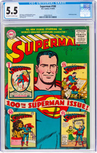 Superman #100 (DC, 1955) CGC FN- 5.5 Off-white to white pages