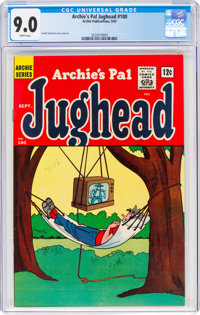 Archie's Pal Jughead #100 (Archie, 1963) CGC VF/NM 9.0 White pages
