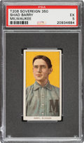 Baseball Cards:Singles (Pre-1930), 1909-11 T206 Sovereign 350 Shad Barry PSA EX 5 - Pop Two, None Higher for Brand. ...