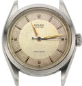 Timepieces:Wristwatch, Rolex, Oyster Precision, Stainless Steel, Ref. 6222, circa 1953, For Repair. ...