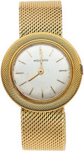 "Timepieces:Wristwatch, Movado, 18k Gold ""Discovolante"", Quartz Replacement Movement. ..."