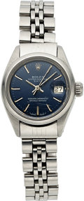 Timepieces:Wristwatch, Rolex, Lady's Steel Oyster Perpetual Date, circa 1974. ...